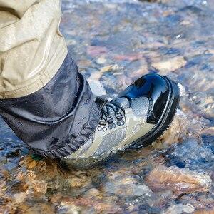 Image 5 - Mannen Ademende Outdoor Waden Laarzen, Sneldrogend En Antislip Vissen Schoenen, Voor Vissen, wandelen En Jacht