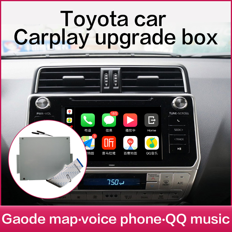Wireless Apple Carplay toyota <font><b>Android</b></font> <font><b>Auto</b></font> Für PRIUS Hilux Camry Tundra Sienna Fortuner Landcruiser Prado Multimedia Spiegel image