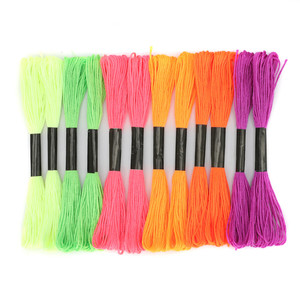 12Pcs Mix Color Cross Stitch Durable Bright Colors Cotton Sewing Skeins Craft Embroidery Thread Floss Kit DIY Sewing Tools