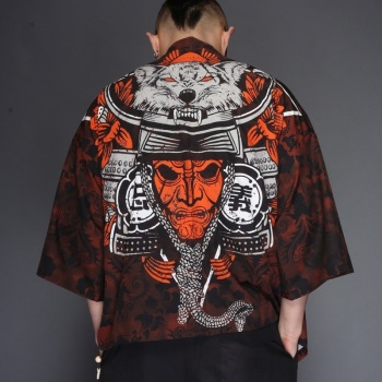 Japanese Kimono Cardigan Men Spring Male Yukata Men's Kimono Japanese Samurai Clothing Traditional Casual Japanese Clothing aikido gi uniform cotton hapkido pants kendo hakama black japanese samurai traditional mens women kids keikogi adult