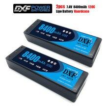 2 uds. De baterías DXF Lipo 2S, 7,4 V, 8400mah, 6500mah, 5200mah, 120C, 100C, 100C, con estuche rígido de 4mm para coche RC Evader BX, vehículo Truggy Buggy