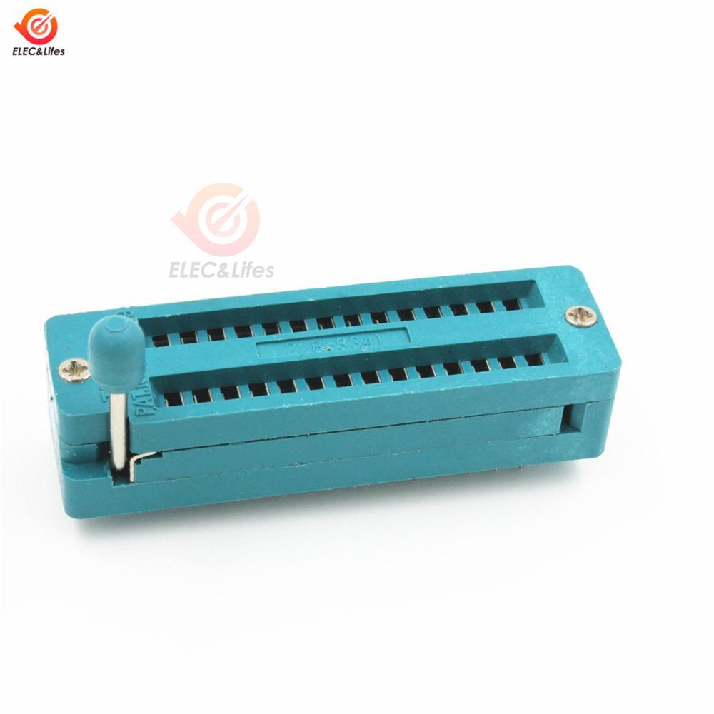 28PIN Narrow Body DIP28 ZIF ZIP IC SOCKET 28P DIP CHIP TEST Adaptor 28 PIN Dip-28 2.54MM PITCH CONNECTOR FOR PCB
