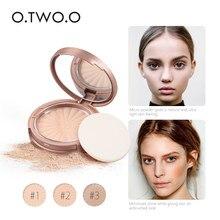 O.TW O.O-polvo comprimido sin aceite, polvo compacto mate, Base de Control de aceite de larga duración, poros, cosmético de acabado Natural Invisible