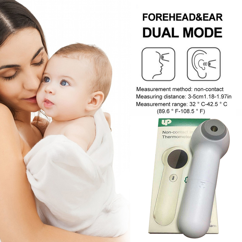 Baby Thermometer Infrared Digital LCD Body Measurement Forehead Ear Non-Contact Adult Body Kids Fever IR Children