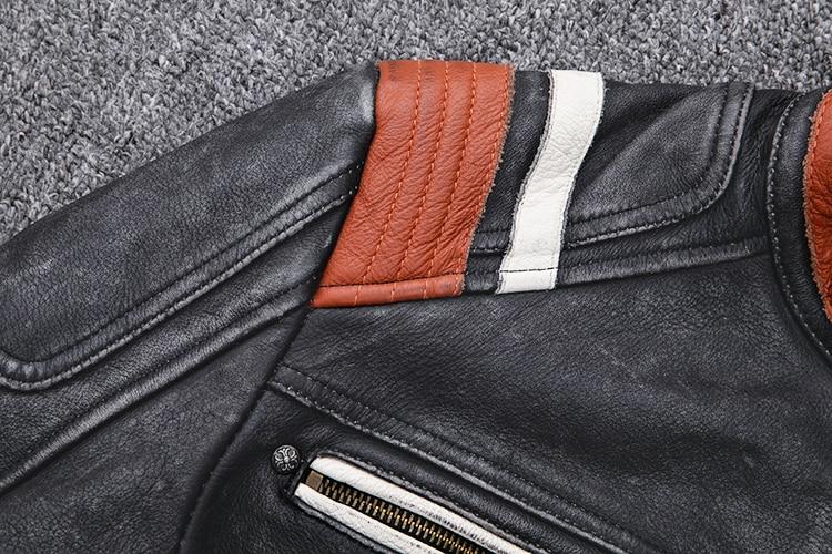 Hd35b92369ae44d0284ea16a7e9a6dc7c3 2019 Vintage Black Men Leather Motorcyclist Jacket Skull Embroidery Plus Size 3XL Genuine Cowhide Short Biker Coat FREE SHIPPING
