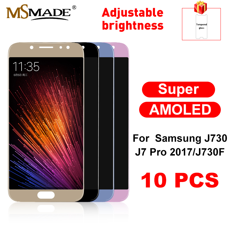 10 PCS Super AMOLED LCD for <font><b>SAMSUNG</b></font> <font><b>J7</b></font> <font><b>Display</b></font> J730 J730F <font><b>J7</b></font> Pro LCD Touch Screen Replacement For <font><b>SAMSUNG</b></font> <font><b>Galaxy</b></font> <font><b>J7</b></font> <font><b>2017</b></font> <font><b>Display</b></font> image