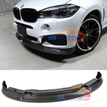 Real Carbon Fiber Front Lip Spoiler For BMW F16 X6 M-Sport 2015UP B419 image