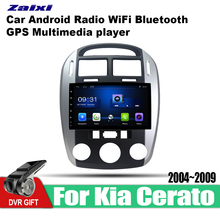 ZaiXi Android Car GPS Multimedia Player For Kia Cerato 2004~2009 car Navigation radio Video Audio WiFi Bluetooth