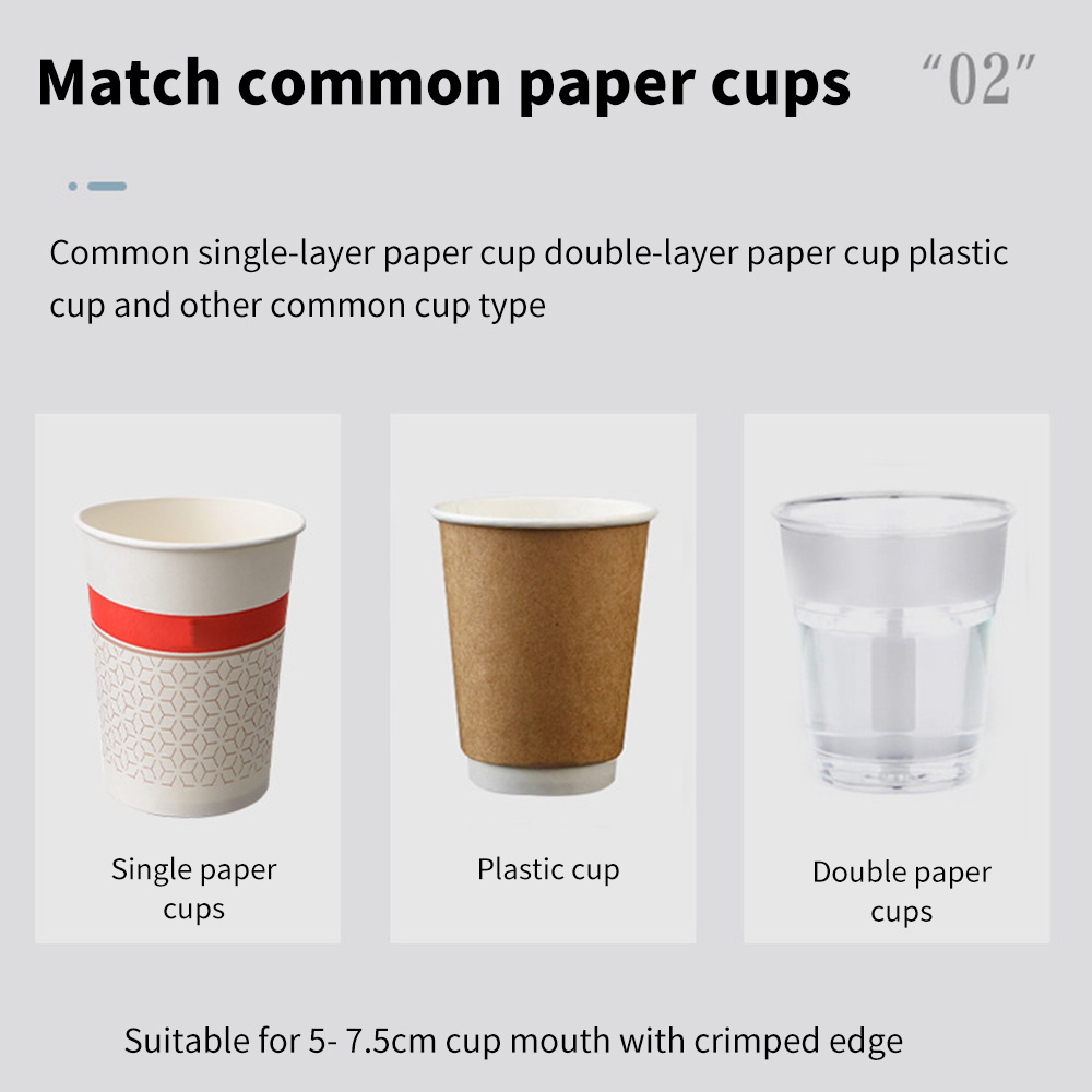 Paper Cup Dispenser Magnetic Attachment Cup Holder Manual Type