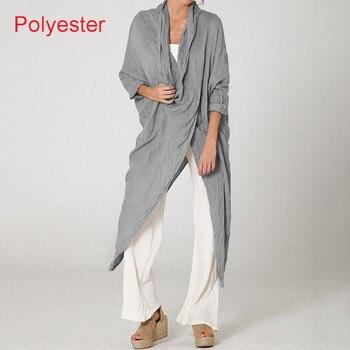 Plus Size Women Tops and Blouse 2021 Celmia Autumn Vintage Long Blouses Casual Cowl Neck Long Sleeve Asymmetric Party Blusas 5XL 10
