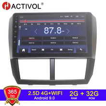 4G WIFI 2G 32G אנדרואיד 9.0 2 דין רכב רדיו עבור סובארו פורסטר אימפרזה 2008 2009 2010 2011 12 רכב אודיו автомагнитола רכב סטריאו