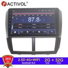 4G WIFI 2G 32G Android 9.0 2 din radio samochodowe dla Subaru Forester Impreza 2008 2009 2010 2011 12 samochodowy sprzęt audio transmisje samochodowe stereo