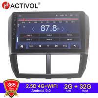 4G WIFI 2G 32G Android 9.0 2 din radio samochodowe dla Subaru Forester Impreza 2008 2009 2010 2011-12 samochodowy sprzęt audio transmisje samochodowe stereo
