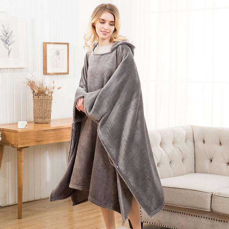 Winter Thick Sofa Comfy TV Blanket Hoodie Sweatshirt Weighted Throw Blanket Fuzzy Fleece Plaid Blanket Fleece Blanket Adult Kids 20