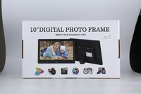 Multifunctional Digital Picture Frame With Full Featured Wireless Remote 10 Inch LCD Screen Display Built in Speaker