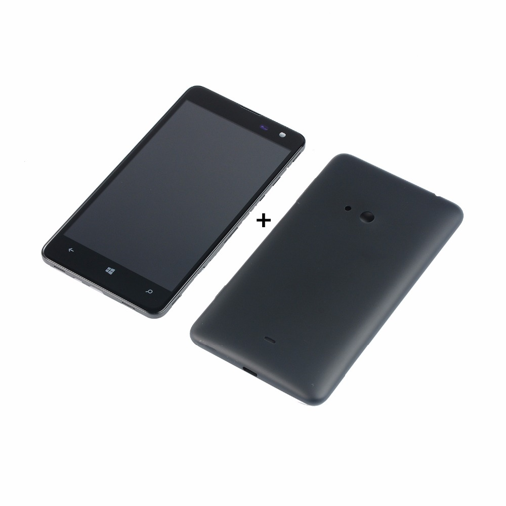 LCD Screen For <font><b>Nokia</b></font> 625 N625 RM-941 RM-943 LCD Display Touch Screen +Back Case <font><b>Battery</b></font> Door <font><b>Cover</b></font> image