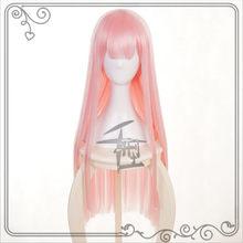 Anime darling no franxx 02 cosplay perucas zero duas perucas 100cm de comprimento rosa cabelo sintético perucas peruca cosplay + peruca boné