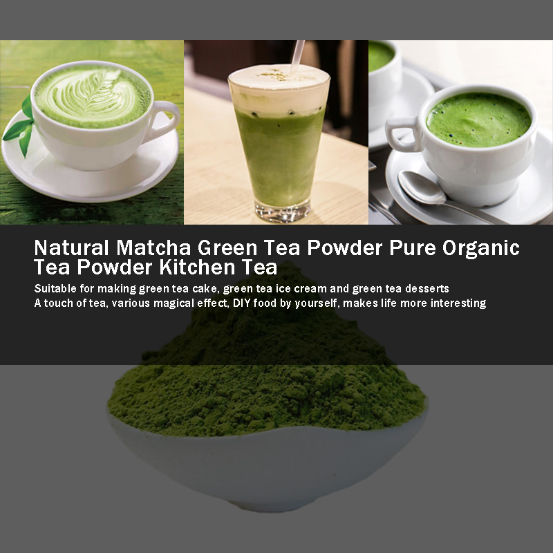 499g Natural Matcha tea  Powder Pure Organic Portable Mini Matcha Green tea Powder Professional Kitchenpaper Bags tea Bag 2