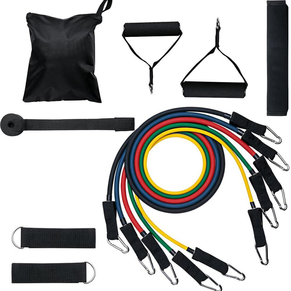 11pcs/set Resistance Band Latex Elastic 5
