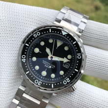Steeldive 1975未定義マグロ腕時計自動男性なしロゴ機械式腕時計NH35A 300メートル防水ダイバー腕時計C3発光