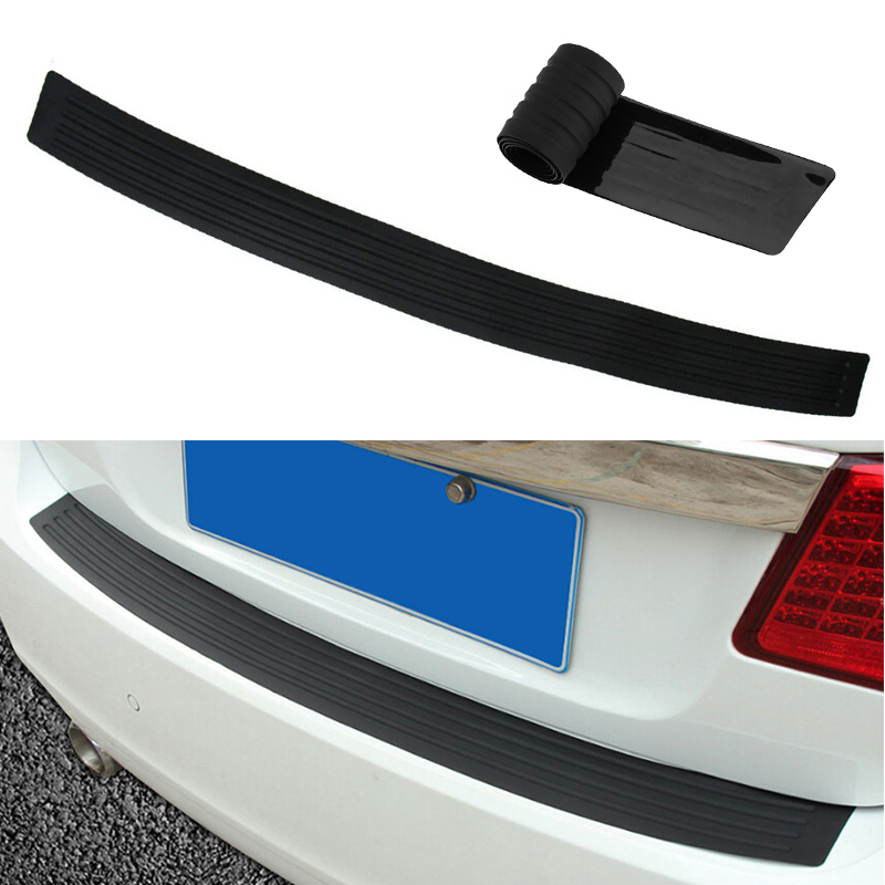 VODOOL 104*9cm Universal Car Trunk Door Sill Plate Protector Rear Bumper Guard Rubber Mouldings Pad Trim Cover Strip Car Styling