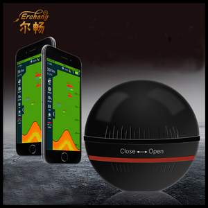 Erchang Smart Portable Fish Finder Depth Sonar Sounder Fishfinder for Lake Sea Fishing Alarm Depth for IOS Iphone Android