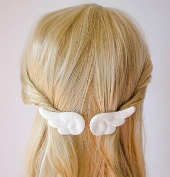 1 Pair  Angel Wings Hair Clips Kids Lovely Plush Hairpins Non Slip Girls Hair Clips Sweet Barrettes Headdress Hair Accessories