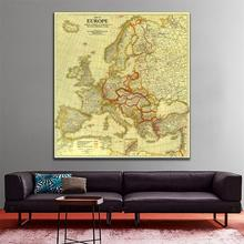 150x150cm HD Non-woven Waterproof Map Europe Vintage Peace Conference at Paris in 1920 For Home Decor Crafts and Wall