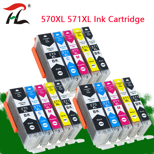 YLC 570 571 PGI 570 CLI 571 PGI570 kompatybilny tusz kartridż do canona PIXMA MG5750 MG5751 MG5752 MG6850 MG6851 MG6852 drukarki