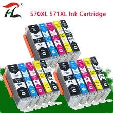 YLC 570 571 PGI 570 CLI 571 PGI570 uyumlu mürekkep canon için kartuş PIXMA MG5750 MG5751 MG5752 MG6850 MG6851 MG6852 yazıcı