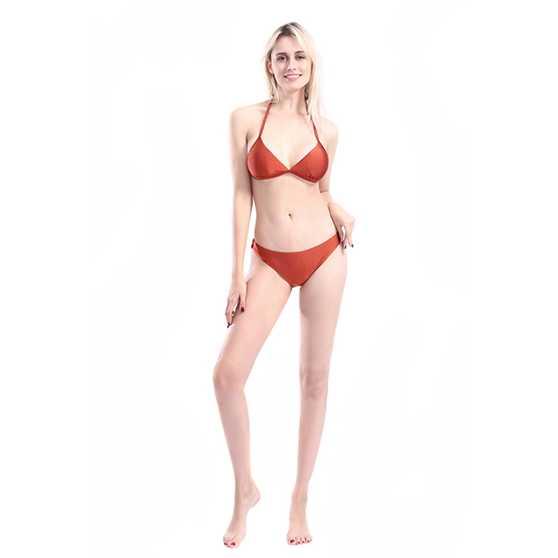2020 The New Europe And The United States Sexy Bikini Swimsuit Comprehensive Caramel-colored Suit Wish Fission