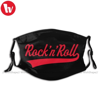 Rock And Roll Mouth Face Mask N Red Facial Funny with Filters for Adult Kawai