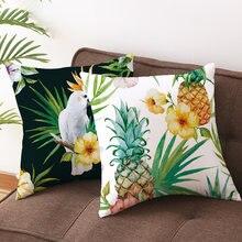 Junbie наволочки для дивана кровати бархатные с тропическим
