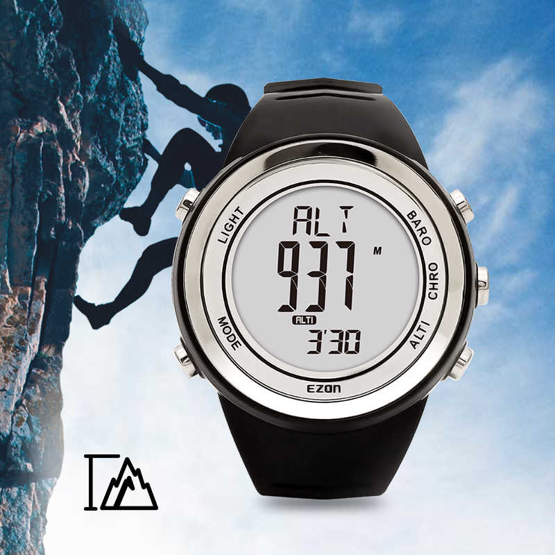 Men's and Women's Digital Sport Watch Hours With Altimeter Barometer Compass Thermometer  For Outdoor Hiking   EZON H009A15