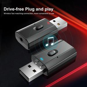 AUX Car Bluetooth Receiver 3.5MM Jack Audio Music Bluetooth 5.0 Car Kits Wireless Music Adapter Handsfree Speaker Auto Stereo