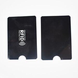 Image 4 - 10 Stks/partij Anti Rfid Blocking Reader Lock Bank Kaarthouder Id Bank Card Case Rfid Bescherming Metalen Credit Kaarthouder aluminium