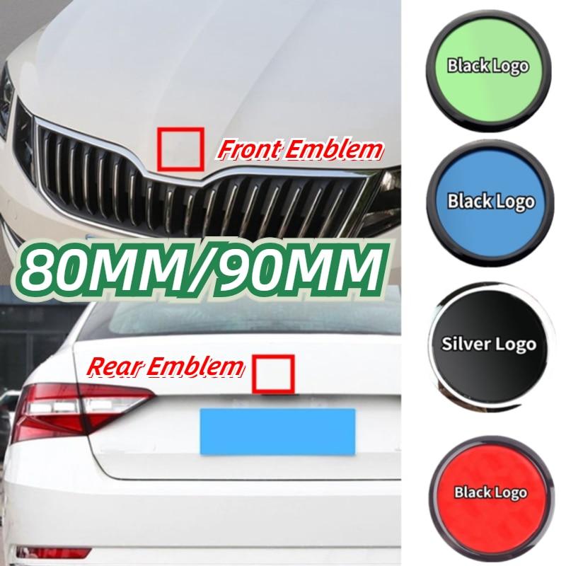 80 مللي متر 90 مللي متر ABS شعار لسكودا فابيا 1 2 اوكتافيا a7 RS رائع السريع اليتي كاروك الرؤية سيارة رئيس الجبهة الخلفية التمهيد الباب الخلفي ملصق