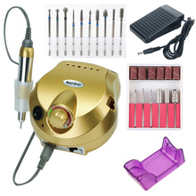 35000/20000 RPM Electric Nail Drill Machine Set Mill Cutter Pedicure Manicure Polishing Tools Strong Pedal Drill Equipment Kit