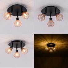 Подвесные светильники в скандинавском стиле лофт, современный креативный потолочный светильник в клетку, промышленный ретро светильник «сделай сам» для спальни, гостиной, столовой