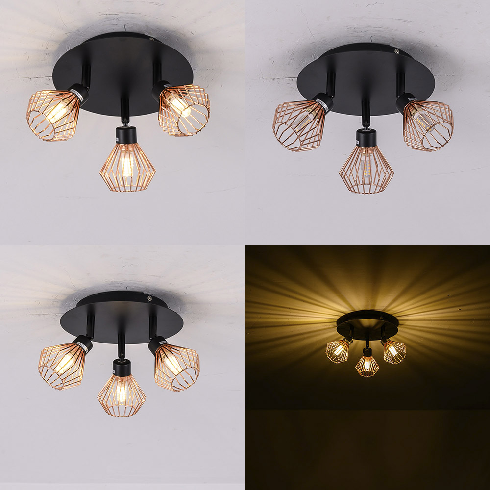Nordic Loft Pendant Lights Fixture Modern Creative Cage Hanging Lamp Industrial Retro Lampen DIY For Bedroom Living Dining Room