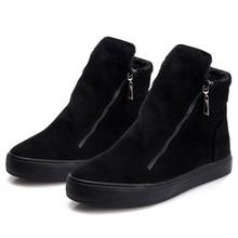 รองเท้าผู้หญิงฤดูหนาวข้อเท้าหิมะพร้อมซิปสุภาพสตรีขนรองเท้าสบายหนาขายสีดำBotas Mujer