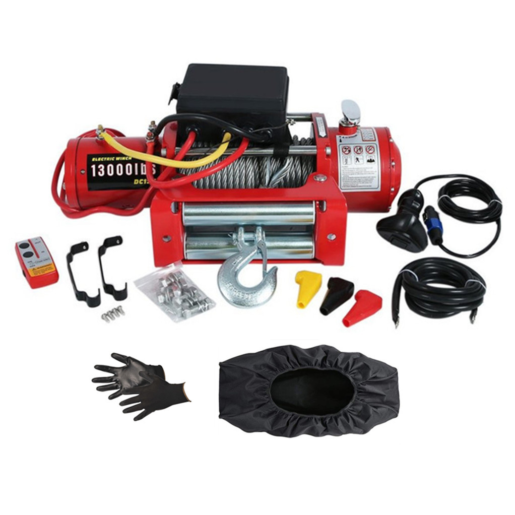 Winch 12V 13000 Lbs  Electric Winch Wire Rope Winch