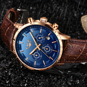 2020 New Mens Watches LIGE Top Brand Leather Chronograph Waterproof Sport Automatic Date Quartz Watch For Men Relogio Masculino 2020 lige new mens watches top brand luxury chronograph waterproof sports automatic date quartz watch for men relogio masculino