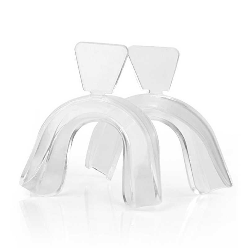 2 Pcs Transparan Mulut Guard Gum Perisai Mulut Nampan untuk Bruxism Gigi Grinding Tinju Gigi Perlindungan