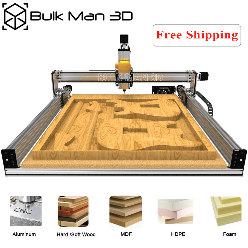 4 Axis LEAD CNC Router Machine Kit + Mach3 GRBL USB Controller Bundle + Cable Drag Chain Bundle + 4pcs Nema23 Stepper Motors