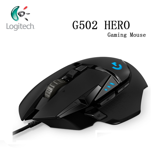 Logitech G502 HERO Engine with 16,000 DPI High Performance Gaming Mouse HERO  Programmable Tunable LIGHTSYNC RGB for Mouse Gamer