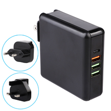 61W 4-Port PD Type C USB Fast Charger For MacBook Huawei Laptop Power Adapter Quick Charge 3.0 Phone Tablet USB Charger eseye biometric face facial recognition time attendance system tcp ip access control employee time clock recorder machine reader