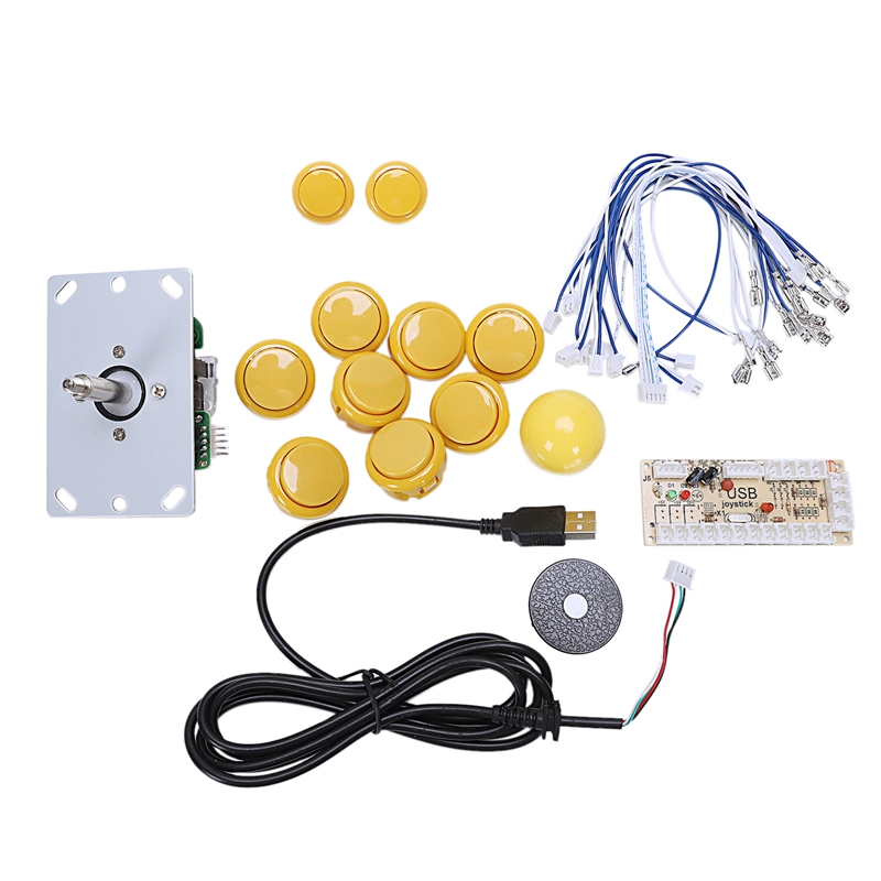 Game Console Control Board Usb Arcade Joystick Chip Circuit Board 24Mm/30Mm Push Buttons Game Machine Joystick Video Game Access
