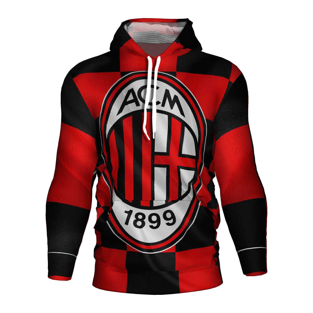 Ac Milan Soccer Jersey 2018 2019 Football 3d Hoodie Ac Milan Tracksuit Costume Ac Milan Sweatshirt Training Kit Football Hoodies