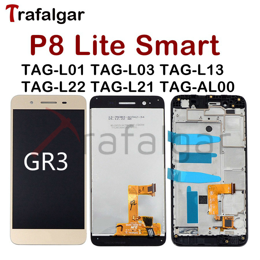 For Huawei P8 Lite Smart LCD Display Touch Screen Digitizer Replace For Huawei P8 Lite Smart LCD With Frame GR3 TAG L01 ScreenMobile Phone LCD Screens   -